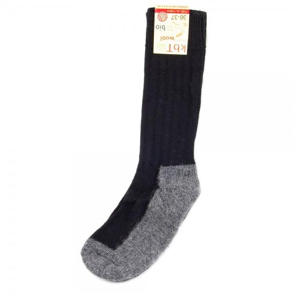 Hirsch Natur ~ Trekking-Socke ~ schwarz/anthrazit