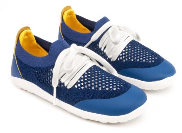 bobux i-walk ~ Play Knit ~ Blueberry & Yellow