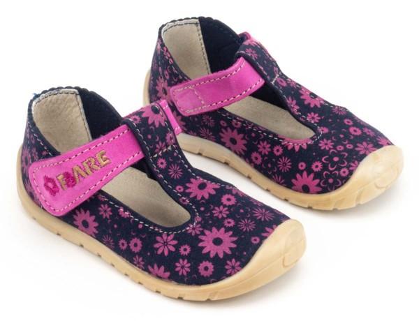 Fare Bare ~ Leder Sandale ~ Pinke Blümchen