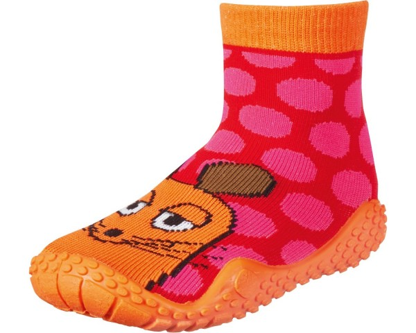 "Playshoes ~ Aqua Socke ~ ""Die Maus"" (rot/pink)"
