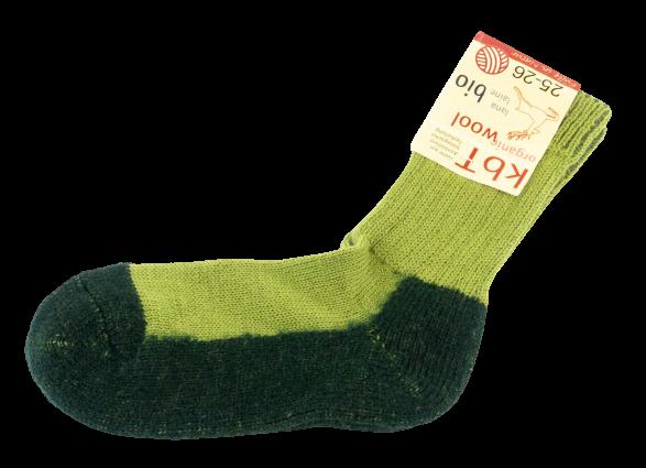 Hirsch Natur ~ Trekking-Socke ~ maigrün/tanne