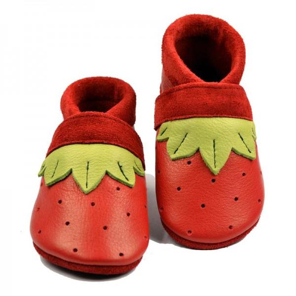 Pantolinos ~ Erdbeerblatt ~ rot/hellgrün