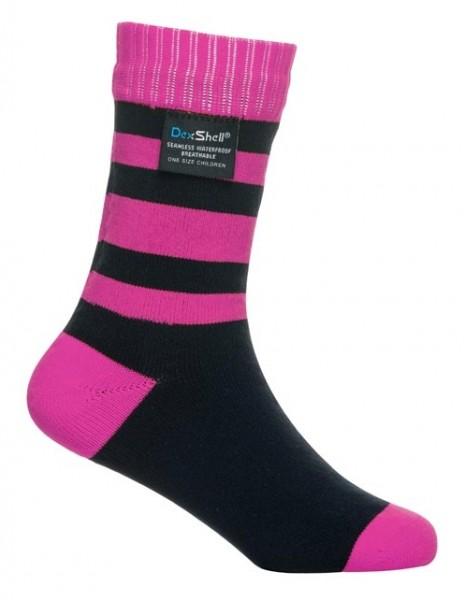 DexShell Kids ~ wasserdichte Socke ~ Smart Sock ~ pink stripe
