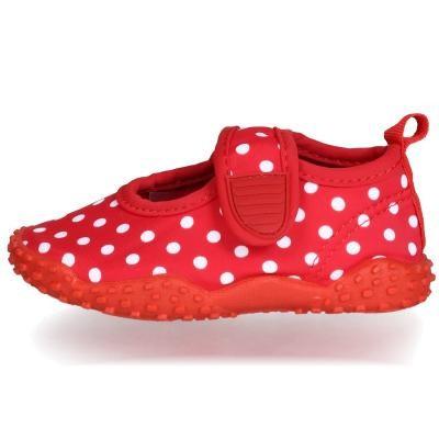 Playshoes ~ Aqua Schuh ~ rot mit Punkten