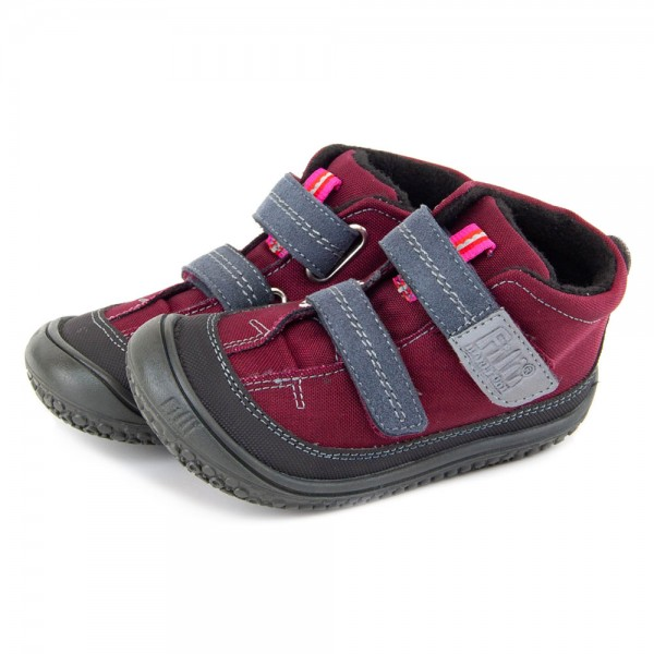 Filii ~ veganer Kindergartenschuh mit TEX+Fleece ~ berry
