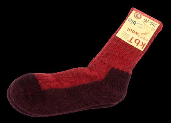 Hirsch Natur ~ Trekking-Socke ~ rot (mohn/begonie)