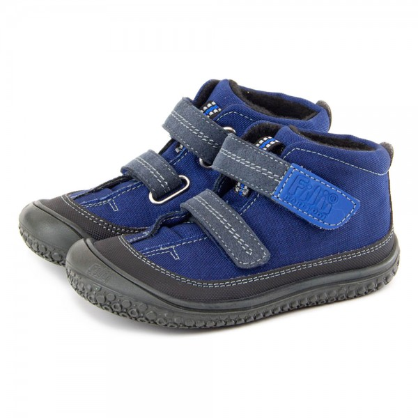 Filii ~ veganer Kindergartenschuh mit TEX+Fleece ~ blau