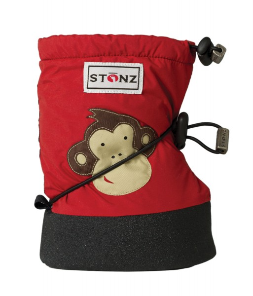 Stonz Booties Affe Monkey rot red
