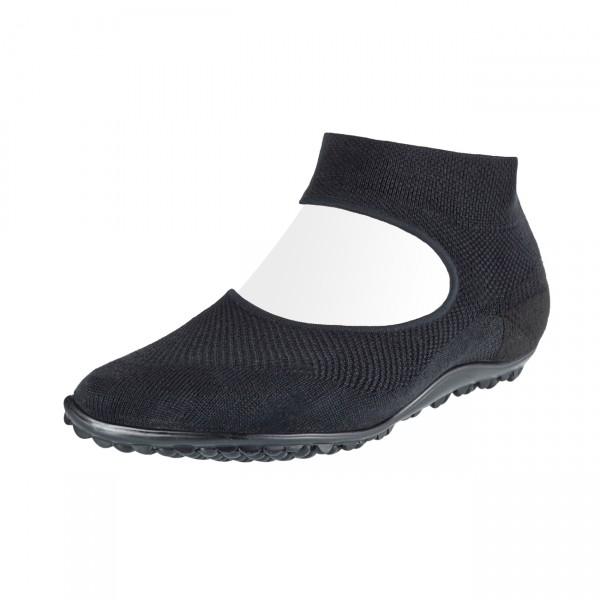 Leguano ~ Sockenschuh Ballerina ~ schwarz